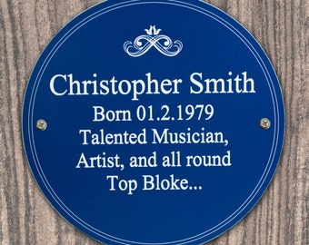 Heritage Style Plaque - personalised in the UK