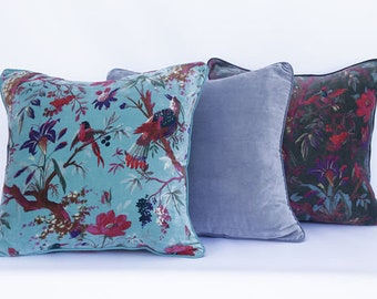 Set of 3 cushion covers 20 x 20 inches, select any three, velvet cushions, throw cushion, throw pillow cover, cotton cushion, home decor
