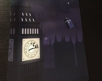Second star to the right, straight on till Gallifrey Postcard (Item 09-394)