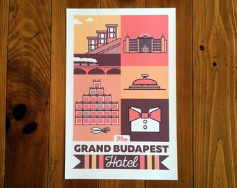 The Grand Budapest Hotel Poster Print