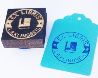 Library Stamp, Book Stamp, Ex libris stamp, Book Plate Stamp,  Vintage Book Stamp Custom library stamp custom gift Free shipping in Canada