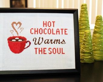 Hot Chocolate Cross Stitch PATTERN Download