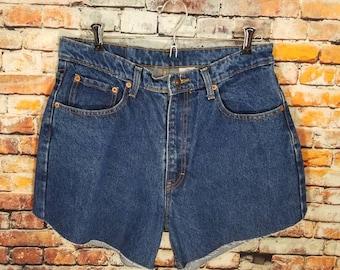 High Waist Jordache Shorts size 15-16 / vintage plus size cut offs / Item #111