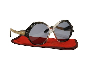 70s Vintage Sunglasses by Jacques Fath - model Esterel/7  - French Designer Sunglasses in Unworn Condition