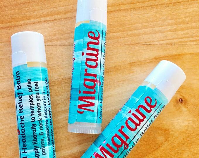 Migraine and Headache Relief Balm | All Natural Headache Salve | head pain, migraine, pain relief, aromatherapy, essential oil balm