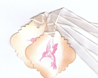 Hummingbird Gift Tag | Bird Tag | Embossed Hummingbird Tag