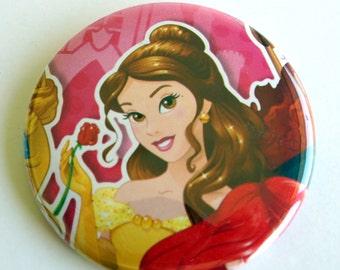 10 Upcycled Disney Princess Tasten - Princess Partyartikel - Prinzessin-Geburtstags-Party - Prinzessin Belle Gefälligkeiten - Prinzessin Belle Party Buttons