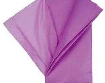 set of 10 sheets of silk tissue paper 50 x 75 purple new