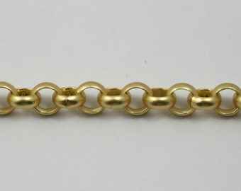 Matte Gold, 7mm Rolo Chain #CC135