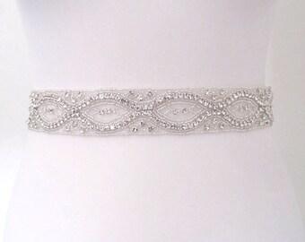 All around crystal bridal sash,rhinestone wedding belt, bridal sash belt,