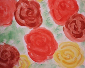 Simple Roses, small painting