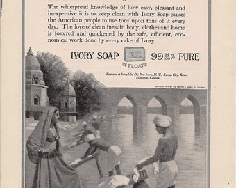Downloadable - Ivory Soap ad from 1910 - Afforadable Ephemera - PDF Delivery