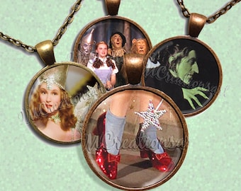 Wizard of Oz Glass Pendant Necklace Jewelry Bundle Gift Party Favors Grab Bag Bulk Discount