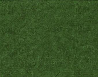 Tissu coton vert foncé marbré de deux tons - collection Spraytime de Makower - GB. Pour patchwork et/ou loisirs créatifs