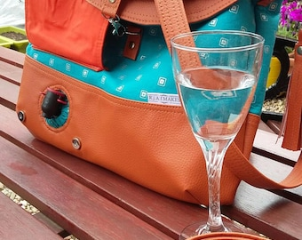 MADE To Order Wine Bag Handbag/ Hippo hobo bag / Hippo Hobo Handbag / Wine carrier / Handbag / Ladies Purse / Drinks Carrier