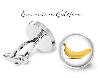 Banana Cufflinks - Bananas Cuff Links - Fruit Cufflink (Pair) Lifetime Guarantee (S0131)