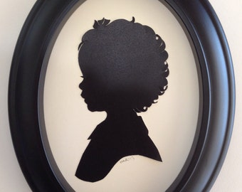 Custom Black Oval Silhouette Frame