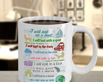 Personalized Coffee Mug Knitting Ceramic Mug