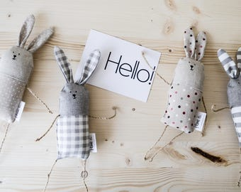 Little Plush Bunnies / Stuffed Rabbits from ECO Cotton / Baby toy
