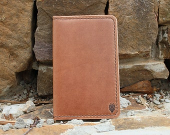 Personalized Leather Handheld Journal Cover Field Notes or Moleskine, The Scribbler