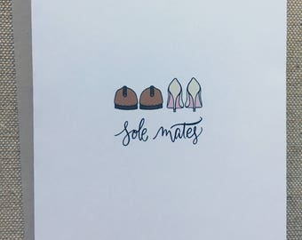 Sole Mates - Congratulations on the Wedding Card