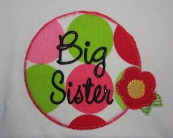Big Sister Tshirt  w/flower