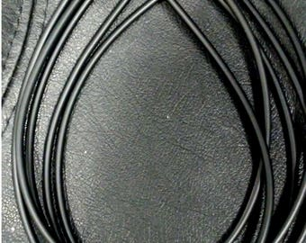 """5 Black Rubber Necklaces/Pendant Cords 18"""" Long with Silver Lobster Clasp"""