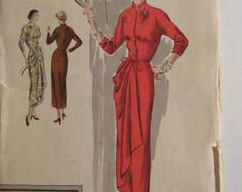 Vintage Vogue pattern special design S-4938  antique pattern   1950s dress   vintage dress   wedding dress   vintage couture