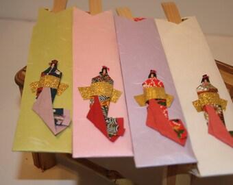 Chop Sticks Fancy Set Chopstix Japanese Chopstix Set w Wrappers Paper Art Set 4