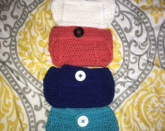 Crochet Diaper Covers size 0-3  months