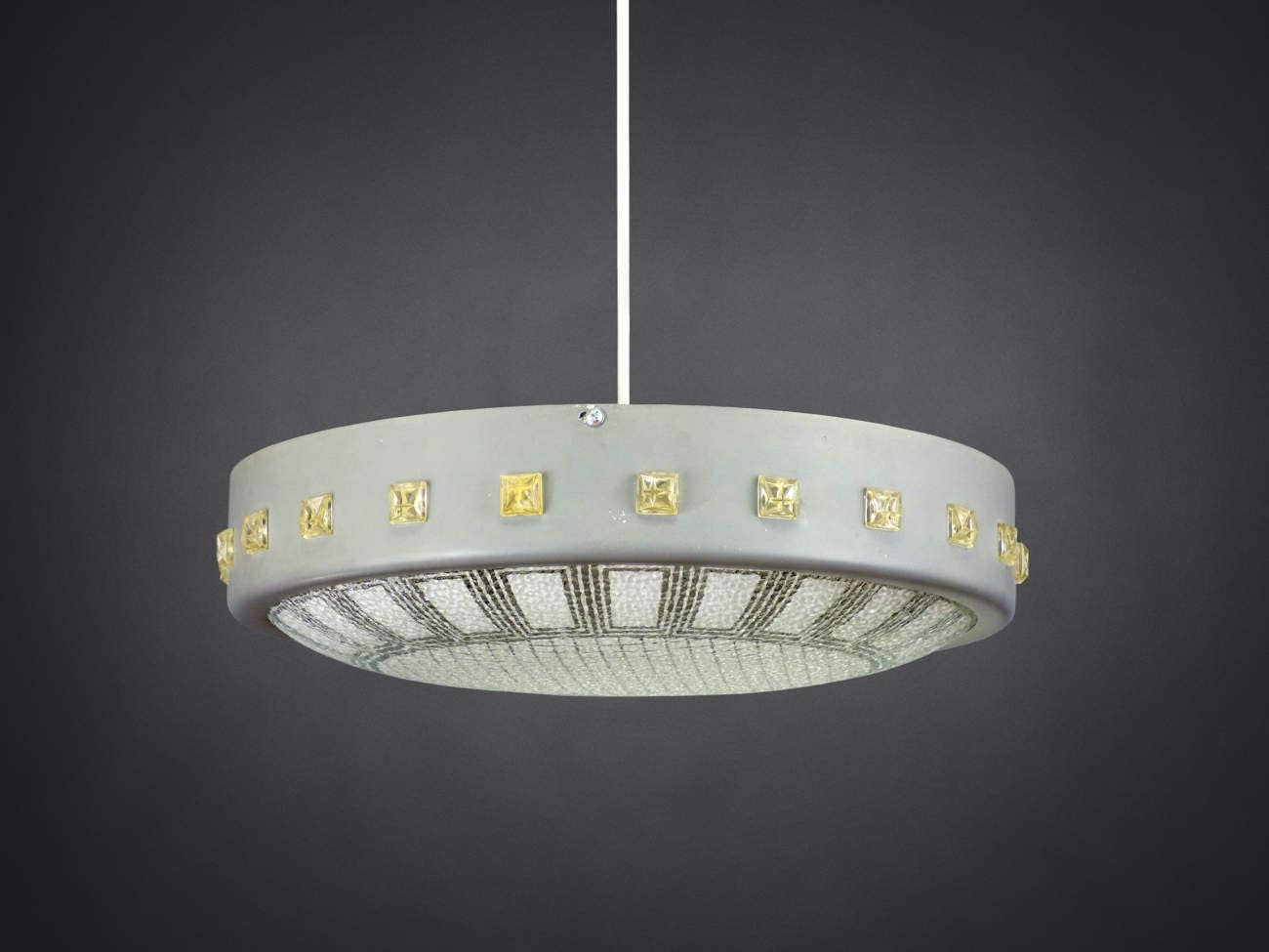 Pendant ceiling lamp ufo flying saucer style made in germany zoom arubaitofo Images