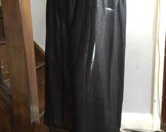 Original Vintage 1970s Black Mackays Petticoat Waist Slip