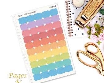 Blank Small Squares Planner Stickers/ Blank Stickers/ Functional Stickers/ Erin Condren/ Plum Paper/ Happy Planner/ Inkwell Press   #124