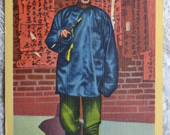 Vintage Postcard - Soothsayer Chinese Man Chinatown SF - Used 1940s