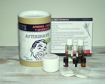 Kit aftershave Gel, cosmetic kit for beginners, do-it-yourself, DIY kit, crafts kit, craft kit, original gifts