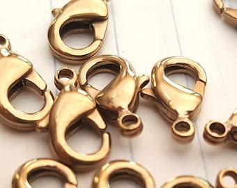 Lobster Clasps | Brass Lobster Clasps | Trigger clasps | Jewelry Clasps