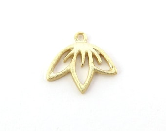 Gold over 925 Sterling Silver Cherry Blossom Charm