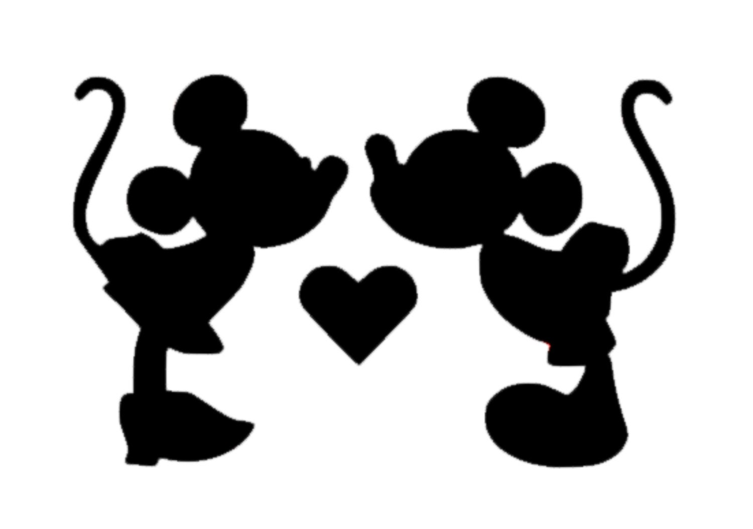 Uncategorized Minnie And Mickey Kissing minnie and mickey mouse kissing decal disney decal