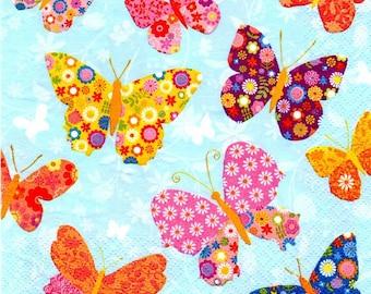 173 - Butterfly paper napkin