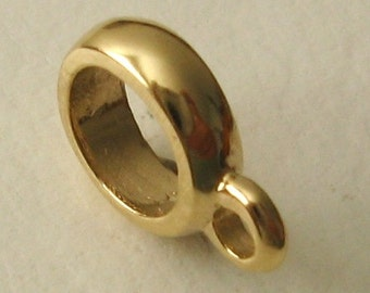 Genuine SOLID 9K 9ct YELLOW GOLD Charm Serenity Bead with Attaching Bail