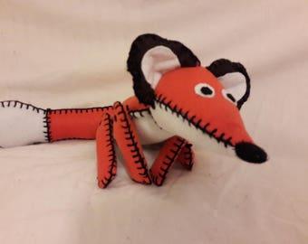 Hand stitched felt fox plush toy