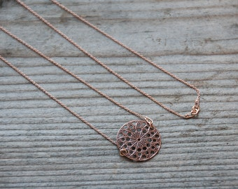 5pics Rose Gold Necklace Base, Rose Gold Plated Chain, Necklace Base for 1 Charm, Modern Jewelry Components, Jewelry Making, Rustic Chain