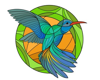 Hummingbird Digital Color Print