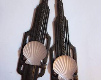 Art Deco earrings Art Nouveau earrings iconic 1920s 1930s style vintage jewellery black drop earrings architectural earrings