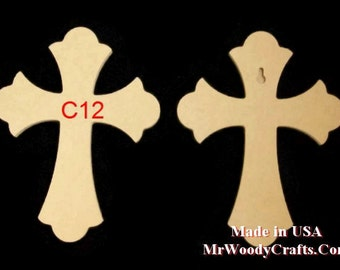 "6"" x 9""  1/2"" Thick Wooden Crosses ready for painting, made in USA, ships in less then 5 days 060950 1-18"