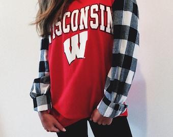 ANY SCHOOL**College Plaid Sleeves Shirt