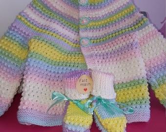 Set 3/6 month baby bra + booties
