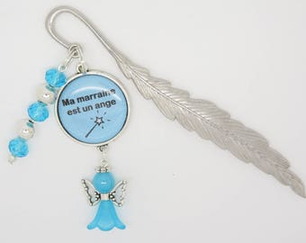 Bookmark personalized with an Angel gift for a godmother, MOM, Grandma...