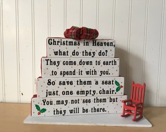 Christmas in Heaven handmade wooden