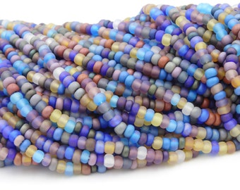 Czech Glass 10/0 Matte AB Seed Bead Mix  6 Strands